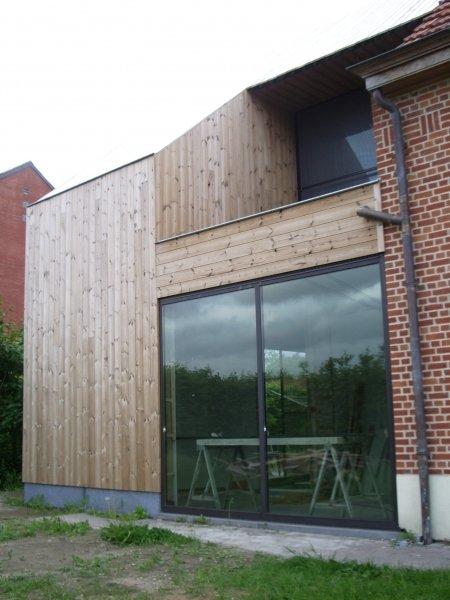 Uitbreiding in houtskelet van een woning itegem goossens partners architecten en ingenieurs - Uitbreiding veranda ...